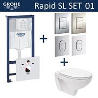 grohe Rapid SL Toiletset set01 Basic Smart met  Arena of Skate drukplaat