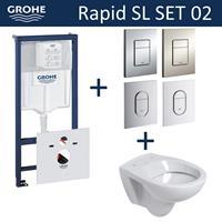 grohe Rapid SL Toiletset set02 B&W Compact met  Arena of Skate drukplaat