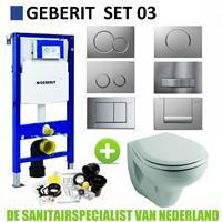 Geberit UP320 Toiletset set03 Sphinx Econ 2.0 met Sigma drukplaat