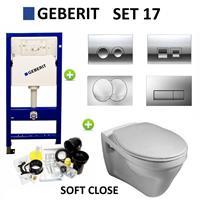 Geberit up100 set17 Gustavsberg Saval met Delta drukplaten