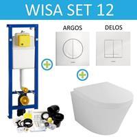 WISA XS Toiletset set12 Wiesbaden Vesta 52 cm met Argos of Delos drukplaat