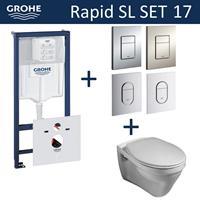 grohe Rapid SL Toiletset set17 Gustavsberg Saval Vlakspoel met  Arena of Skate drukplaat