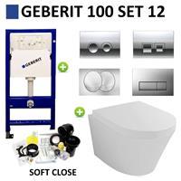 Boss&wessing Geberit UP100 set12 Wiesbaden Vesta 52 cm met Delta drukplaat