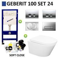 Boss&wessing Geberit UP100 set24 Wiesbaden Vesta Rimless 52 cm met Delta drukplaat