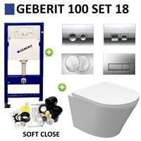 Boss&wessing Geberit UP100 set18 Wiesbaden Vesta Junior Rimless 47 cm met Delta drukplaat