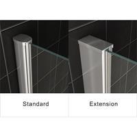 Wiesbaden aluminium verbredingsprofiel voor douchecabines 3x202cm