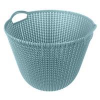 Curver knit mand - 30 liter - misty blue