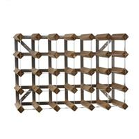 Traditional Wine Rack Co. Wijnflessen rek 30 flessen hout