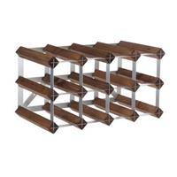 Traditional Wine Rack Co. Traditional wijnrek - donkere eiken - 12 flessen
