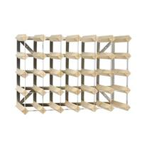 Traditional Wine Rack Co. Wijnrek  30 flessen lichtbruin