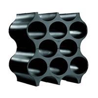 Koziol Wijnrek Stapelbaar Set-Up Zwart 36 cm