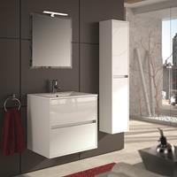 Muebles Project badkamermeubel hoogglans wit 70cm