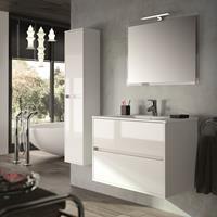 Muebles Project Wastafelmeubel hoogglans wit 80cm