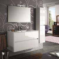 Muebles Project badkamermeubel hoogglans wit 100cm