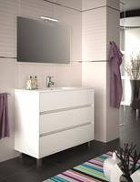 Muebles Rise staand badkamermeubel 100cm hoogglans wit