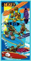 Teenage Mutant Ninja Turtles Turtles Strandlaken Surf 70x140cm - Katoen
