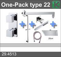 Wiesbaden Douche One-Pack inbouwthermostaatset type 22 (20cm)
