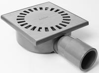 Easydrain Aqua Compact Vloerput ABS 15 X 15 cm Horizontaal