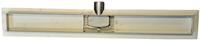 Wiesbaden RVS douchegoot met flens zonder rooster 80x7 cm (3e...