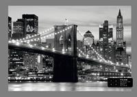 Ag Design Brooklyn Bridge B&W Fotobehang 4D ()