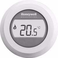Honeywell Round Modulation kamerthermostaat Opentherm met draaiknop en verlicht display, wit