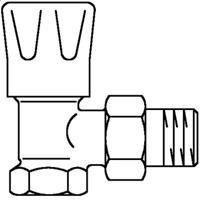 Oventrop Radiatorafsluiter HRV 1/2 haaks Kvs 1,35 m3 h 1191504
