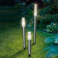 Esotec 3-delige set LED-Solar-lichtstaven Trio Sticks