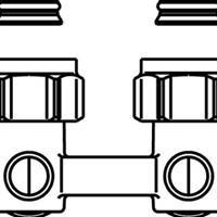 Oventrop H onderblok Multiflex F 3/4 x3/4 haaks 1015814