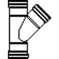 Wavin PVC manchet T stuk 45° 125x110mm 3xmof 1112212114