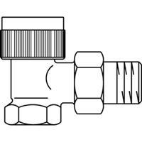 Oventrop Thermostatische radiatorafsluiter AV 6 1/2 haaks Kvs 0,65 m3 h 1183764
