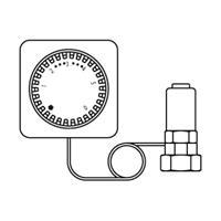 Oventrop thermostaatkop Uni LH afstandbediening M30x1.5 cap. 2 m met nulstand wit 1012295