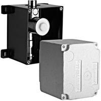 Schell Compact II inbouwdoos voor urinoir besturing hoogte 121mm met stopkraan breedte kast 127mm