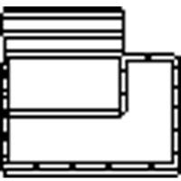 Wavin PVC manchet verloopring excentrisch 125x110mm 1114212110