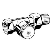 Honeywell Ultraline BB radiatorafsluiter uitvoering binnendraad/buitendraad recht thermostatisch voorbereid