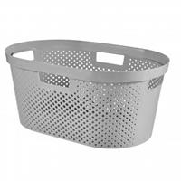 Curver Infinity Dots wasmand - 39 liter - zilver