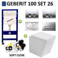 Geberit UP100 Toiletset set26 Best Design Schnell met Delta drukplaat