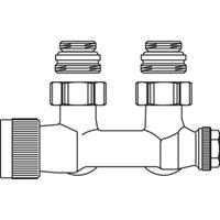 Oventrop Multiblock Onderblok T 2 pijps 1/2 haaks Kvs = 075 m3/h 1184084
