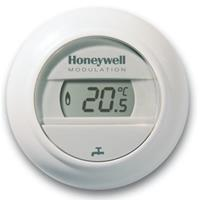 Honeywell Round Modulation Plus kamerthermostaat Opentherm met draaiknop, wit