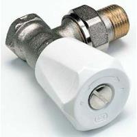 SAR radiatorafsluiter uitvoering staartstuk/buitendraad haaks geschikt voor tweepijpssysteem
