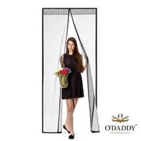 O'Daddy Magnetische vlieggordijn - deur hor- zwart - 92x230cm