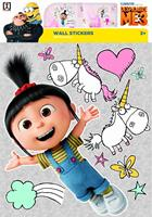 Minions muurstickers Despicable Me Agnes 2 stickervellen