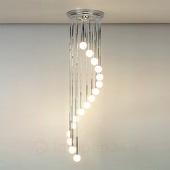 ORION Verchroomde hanglamp TALISA met opaalglas