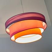 Lampenwelt Felgekleurde hanglamp Melia, paars, roze