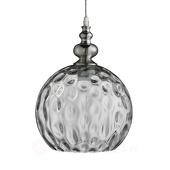 Searchlight Antiek gevormde hanglamp Indiana zilver