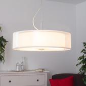 Lampenwelt Textielen pendellamp Pikka met LED