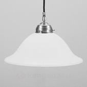 Berliner Messinglampen Hanglamp Anja mat nikkel