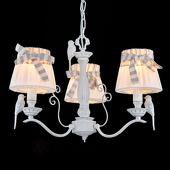 Maytoni 3-lichts hanglamp Bird met linnen kap