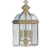 Searchlight Lantaarnvormige hanglamp ARLIND, oud-messing