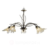 Searchlight Klassieke hanglamp LILY, 5-lichts, oud-messing