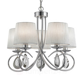 Searchlight Prachtige hanglamp Angelique 5 lichtbronnen